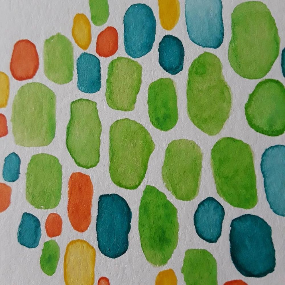 Abstract Watercolor Painting - image 2 - student project