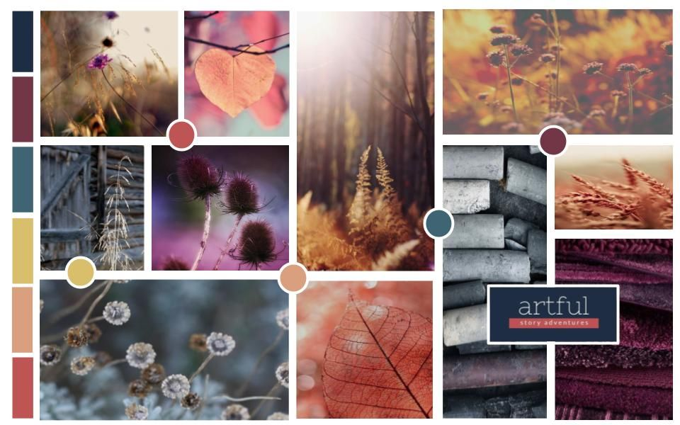 Moodboard for Artful Story Adventures - image 1 - student project