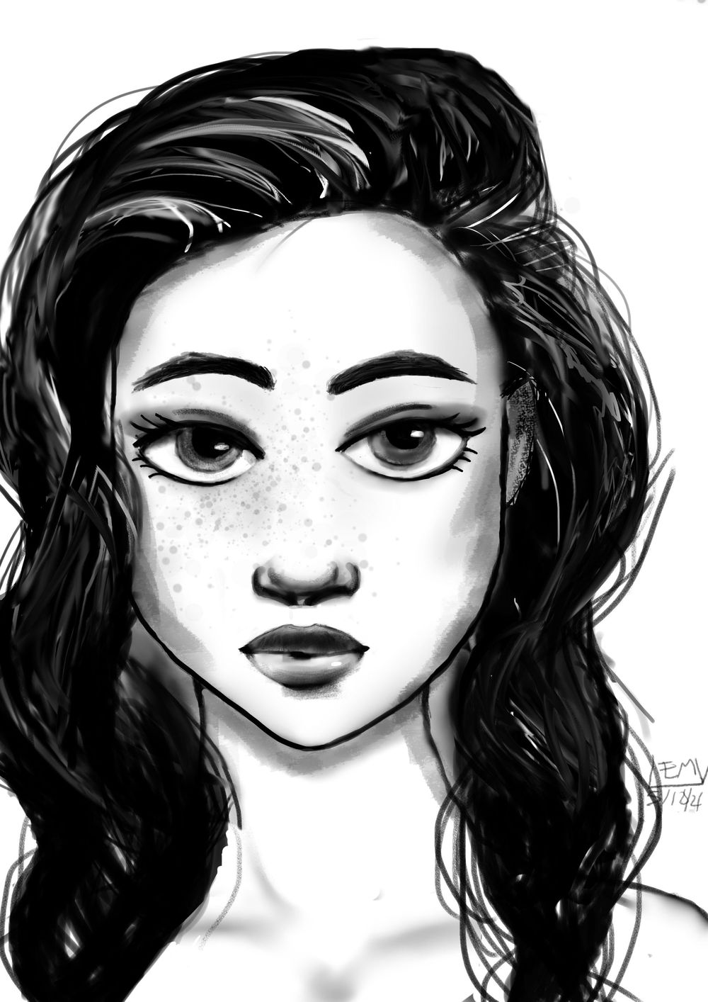 Portrait of a girl - image 1 - student project