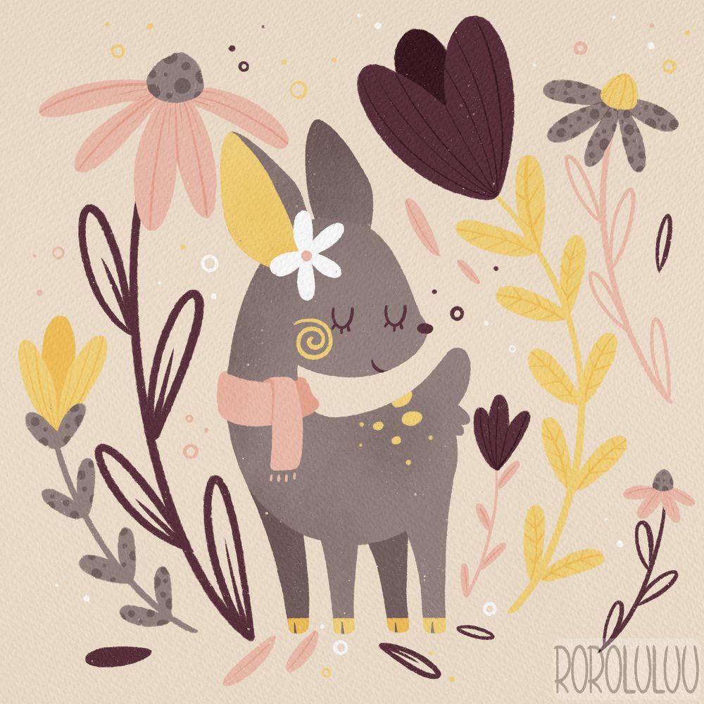 Tiny Deer & Big Flowers - image 1 - student project