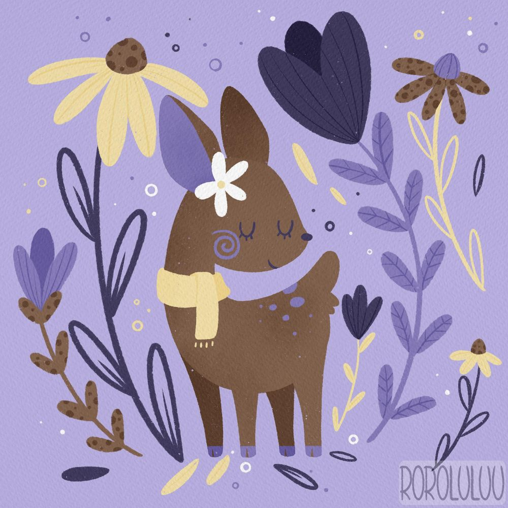 Tiny Deer & Big Flowers - image 3 - student project