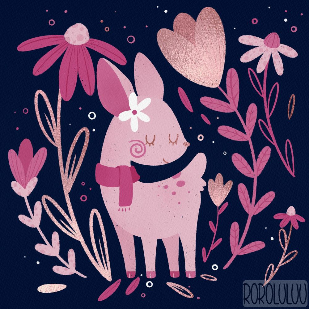 Tiny Deer & Big Flowers - image 4 - student project
