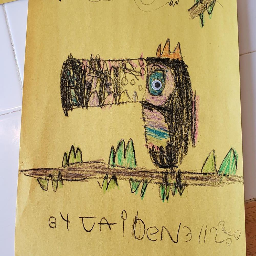 Jaiden 9 - Chameleon with baby / Logan 11 - Chameleon - image 1 - student project