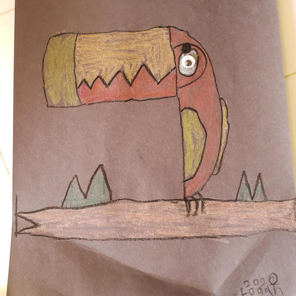Jaiden 9 - Chameleon with baby / Logan 11 - Chameleon - image 2 - student project
