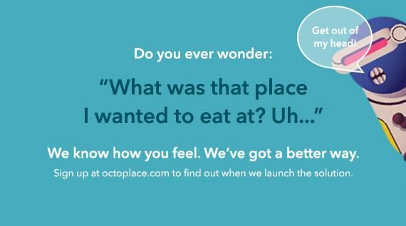 Octoplace.com - Find and save places by dish - image 2 - student project