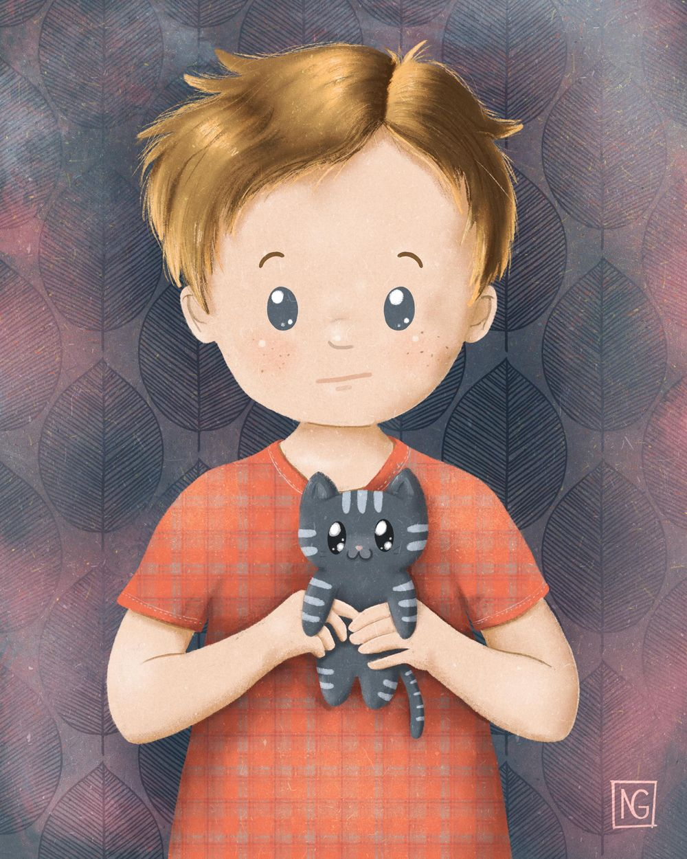 Sad boy with a kitten - image 4 - student project