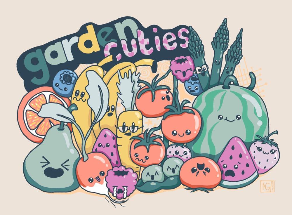 Garden Cuties doodles - image 1 - student project