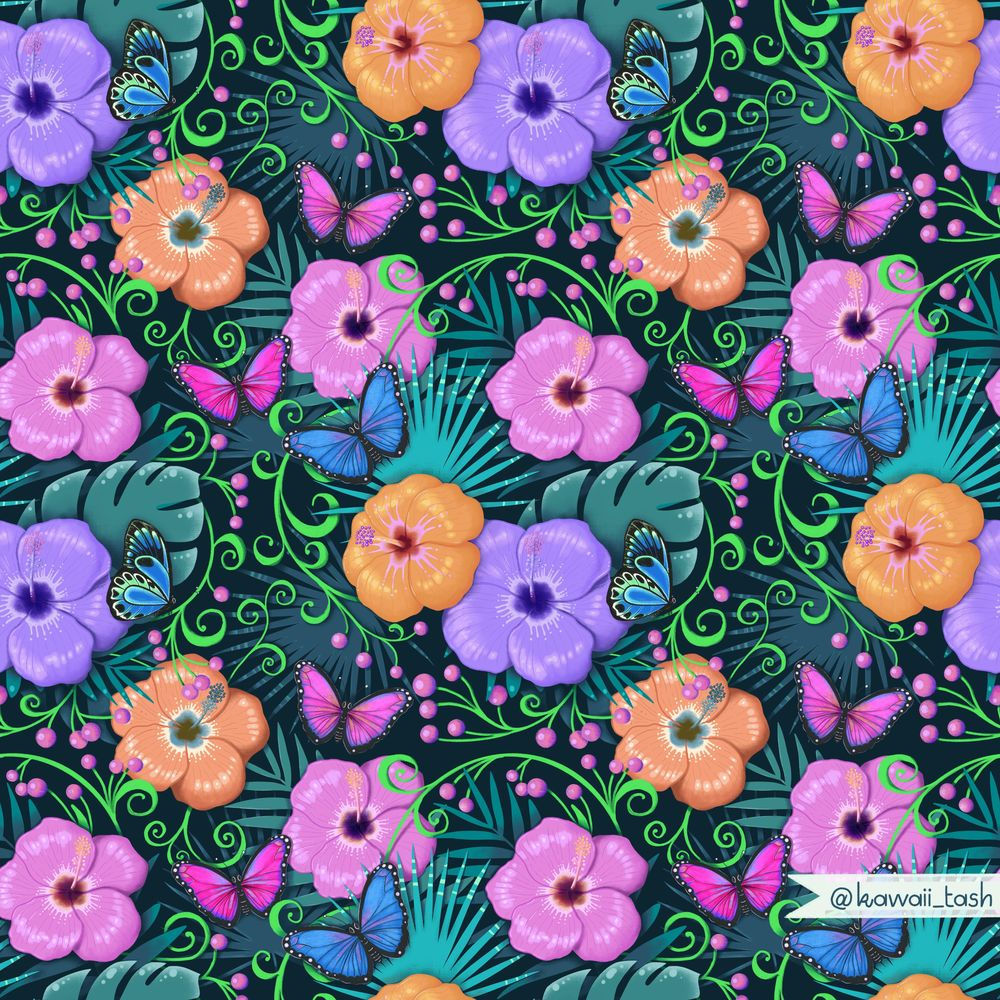 Advanced Seamless Repeat Patterns - image 1 - student project