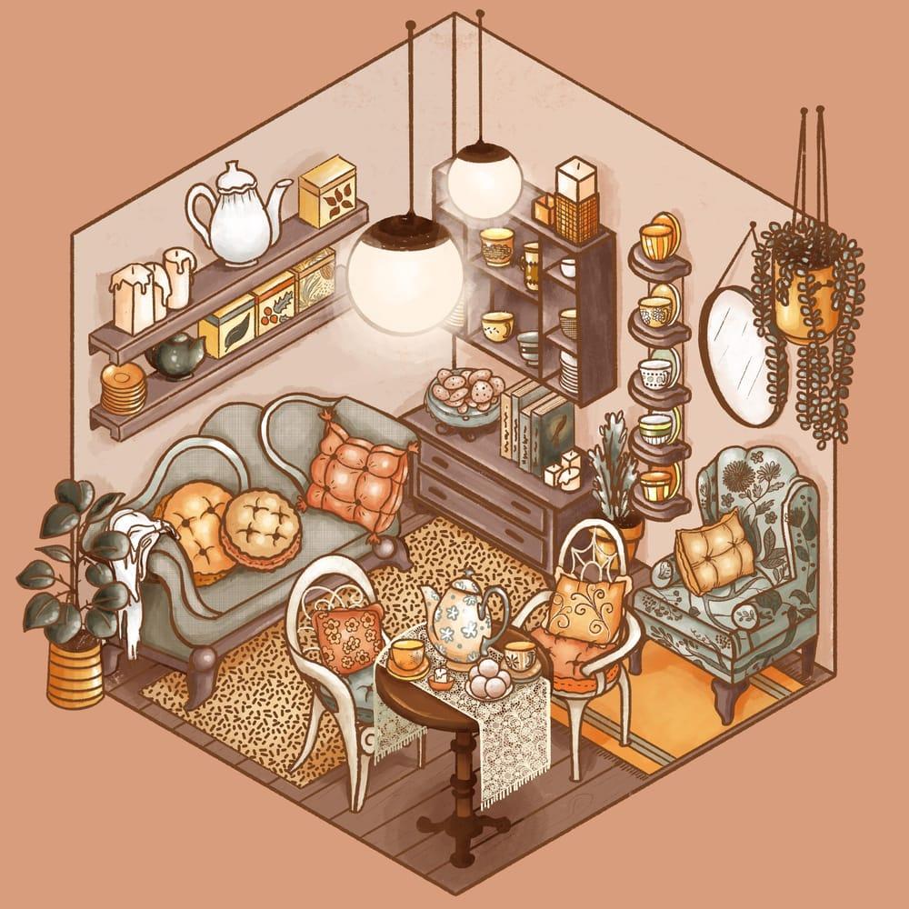 Cozy Tea Shop - image 2 - student project