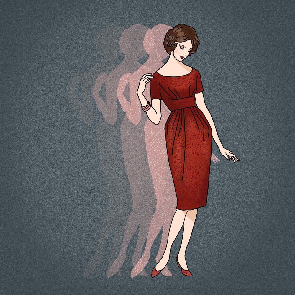 Pattern Lady in Red - image 1 - student project