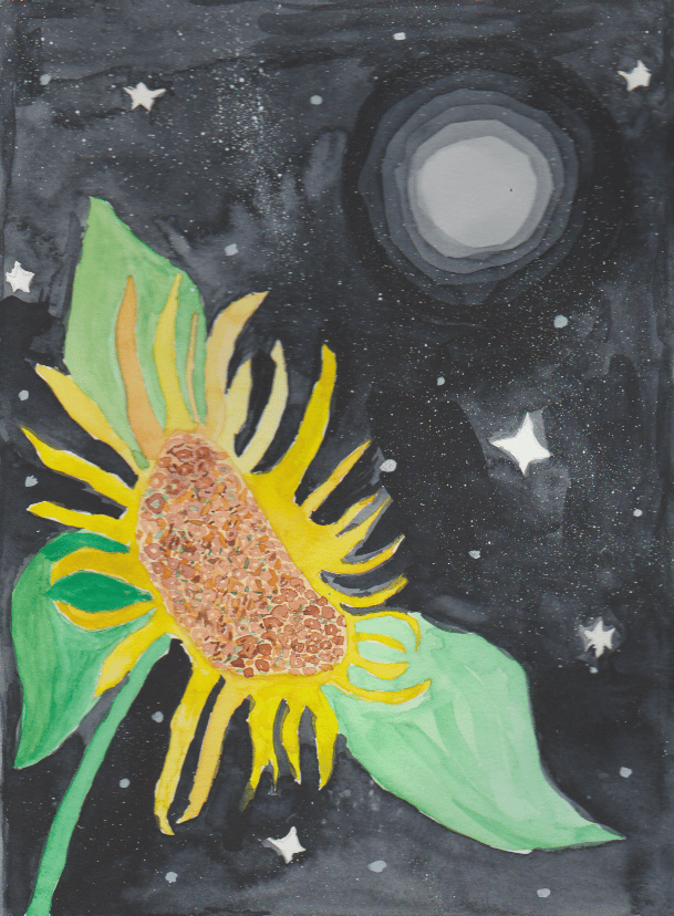 Sun flower and moon. And others - image 3 - student project