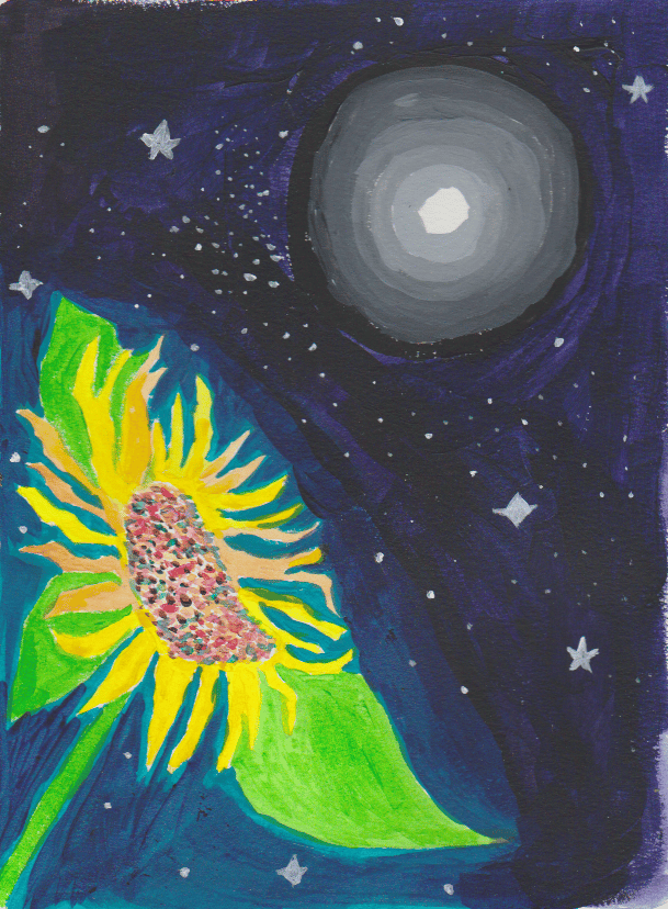 Sun flower and moon. And others - image 2 - student project
