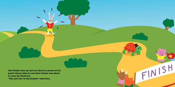 My color spreads from The Tortoise and the Hare - image 2 - student project