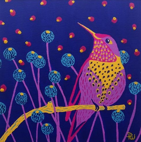 Bird in gouache - image 1 - student project