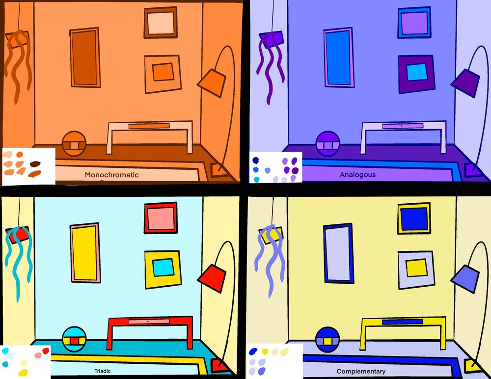 Color theory rooms - image 1 - student project
