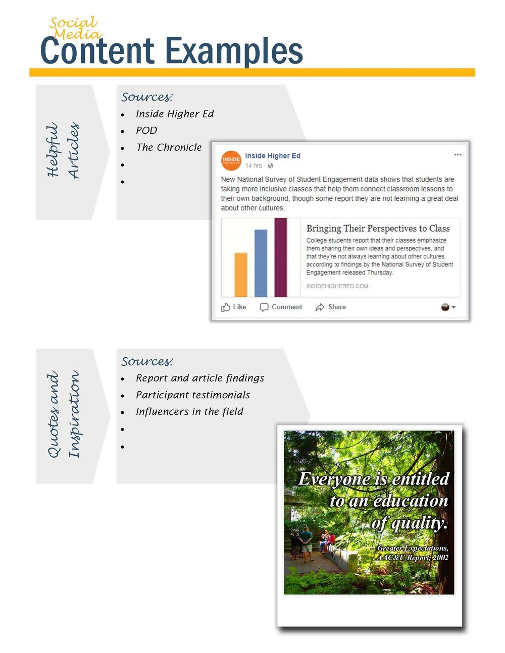 Higher Education Professional Dev. Social Media Vision Board & Example Posts - image 2 - student project