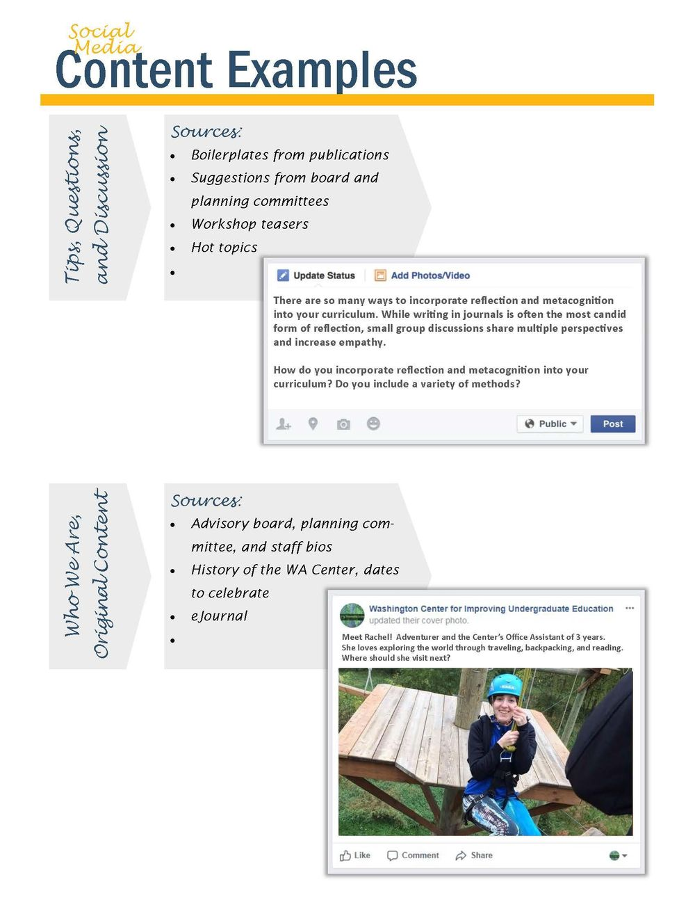 Higher Education Professional Dev. Social Media Vision Board & Example Posts - image 3 - student project