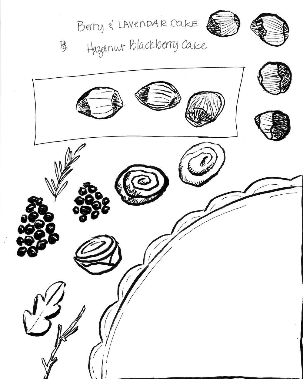 HAZELNUT AND BLACKBERRY CAKE - image 3 - student project