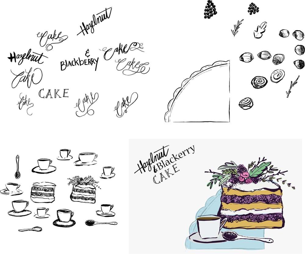 HAZELNUT AND BLACKBERRY CAKE - image 4 - student project