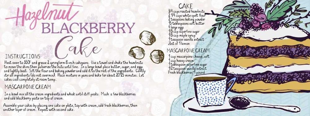 HAZELNUT AND BLACKBERRY CAKE - image 5 - student project