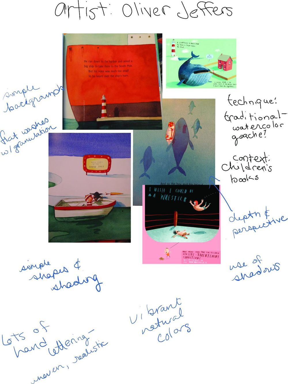 Inspiration Study - Oliver Jeffers - image 1 - student project