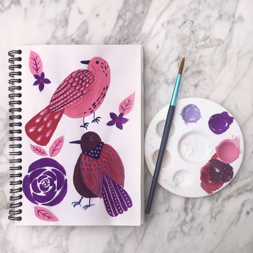 Colorful birdies - image 1 - student project