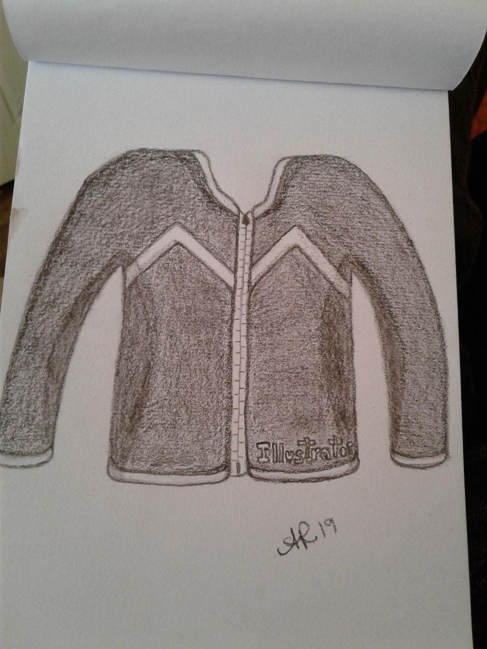 My dream!  I was wearing this black jacket with the word Illustrator. - image 1 - student project