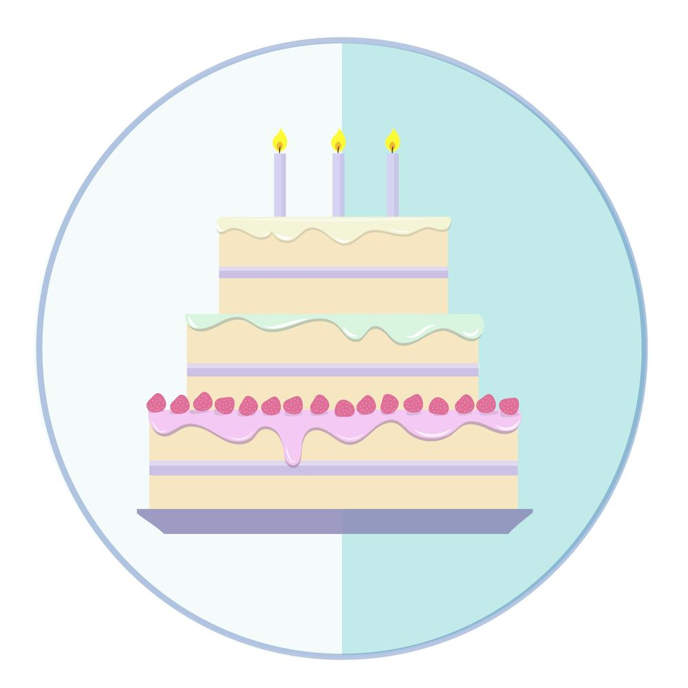 Cake using pen tool in Adobe illustrator - image 1 - student project