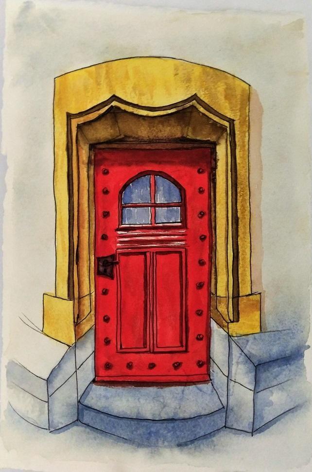 Urban Sketching - Door - 20190425 - image 1 - student project