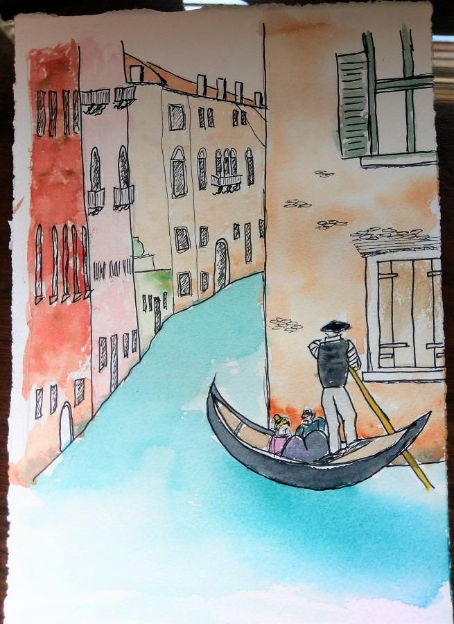 Urban Sketching - Venice - 20190421 - image 1 - student project