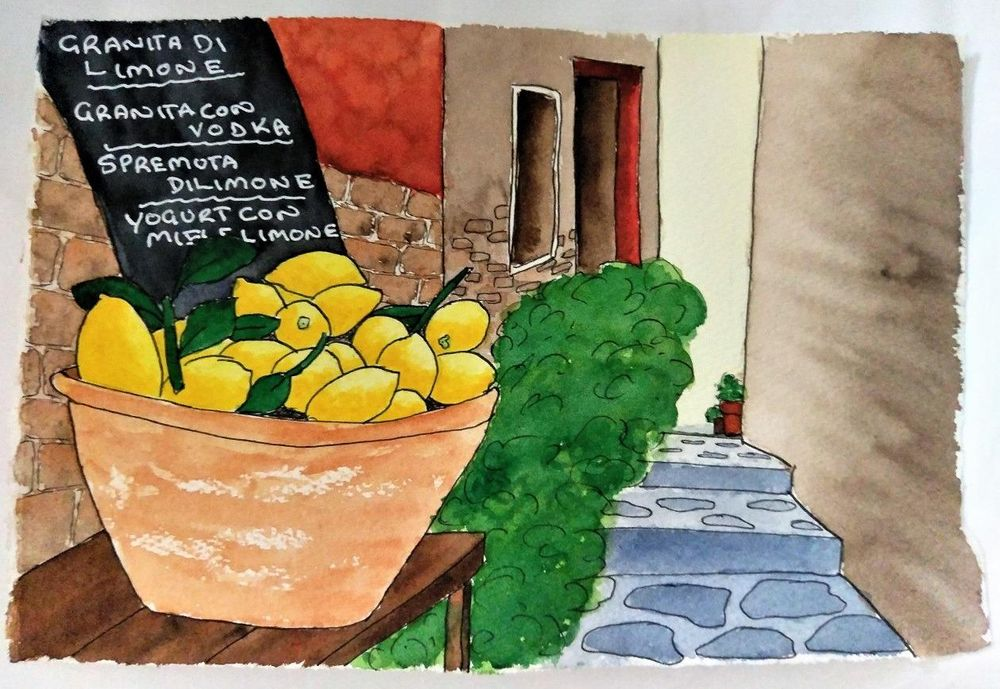 Urban Sketching - Lemons - 20190527 - image 1 - student project