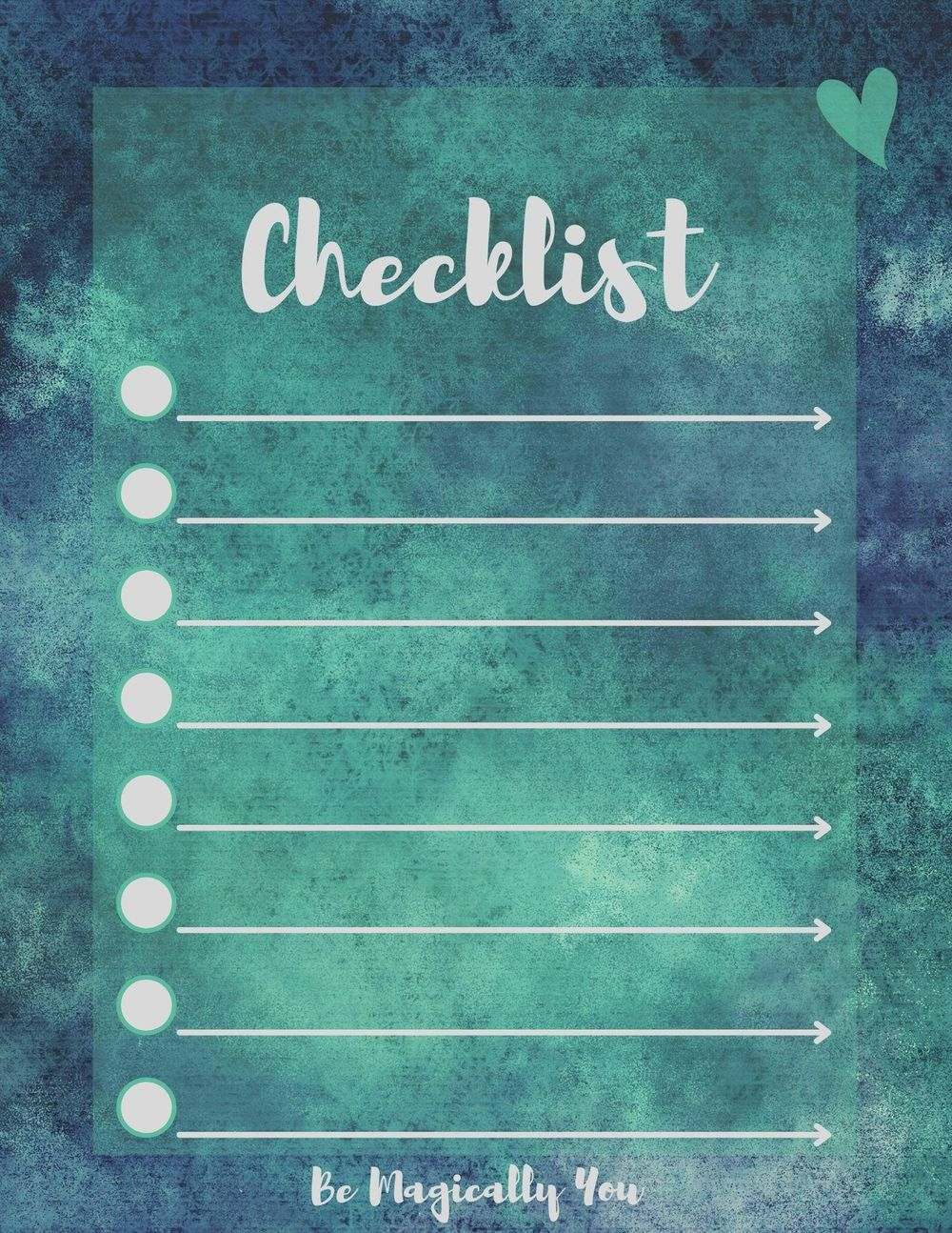 1st Checklist Designs Created - image 2 - student project