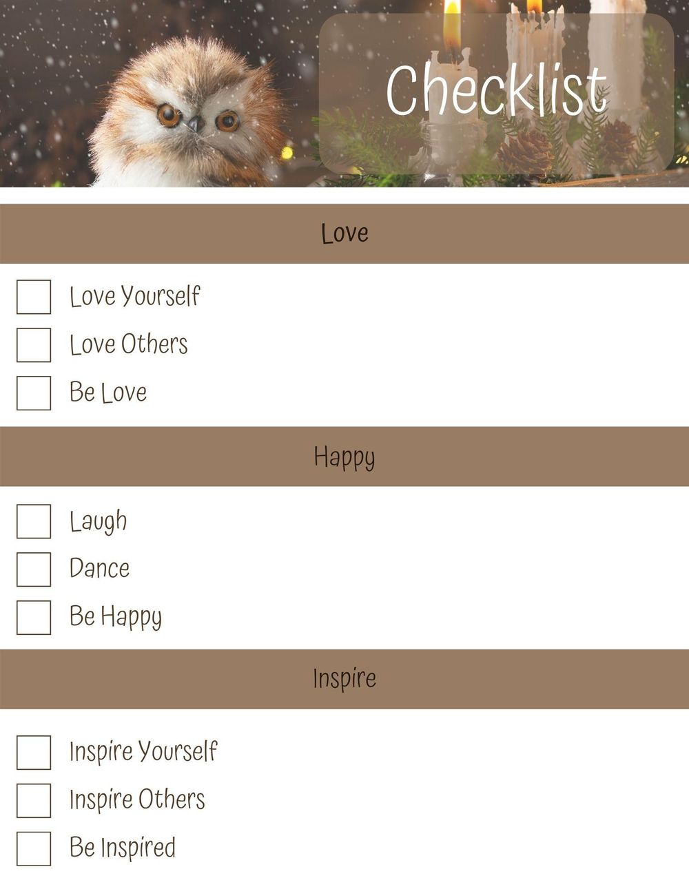 1st Checklist Designs Created - image 3 - student project