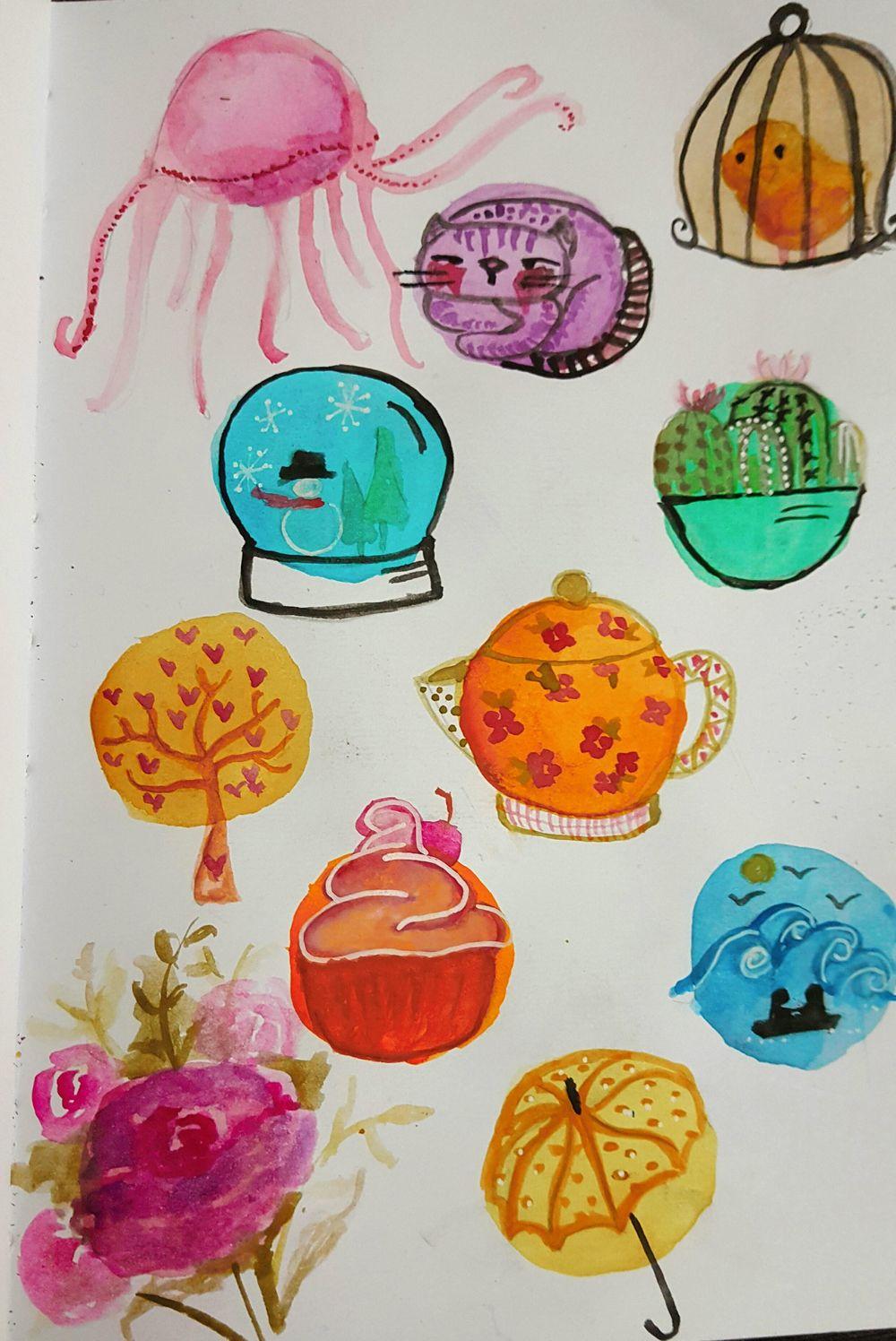Mis circulos ilustrados - image 1 - student project