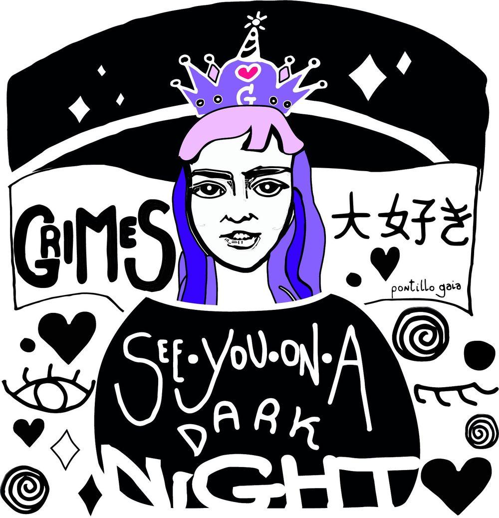 Grimes Illustration ( Stylized Portrait ) - image 1 - student project