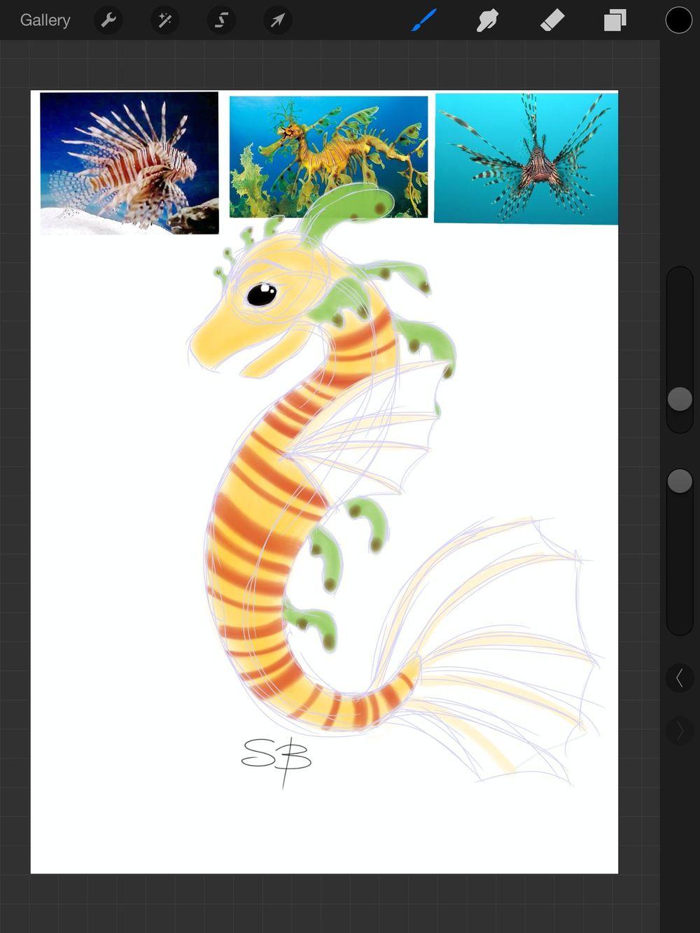 Lion Fish/Leafy Sea Dragon - image 2 - student project