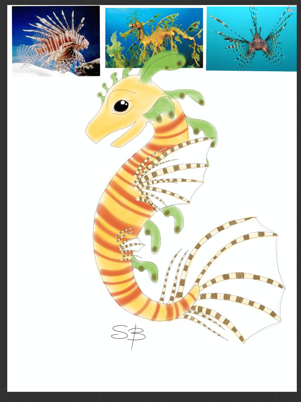 Lion Fish/Leafy Sea Dragon - image 3 - student project