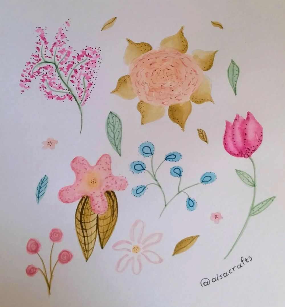 @aisacrrafts botanical illustration - image 1 - student project