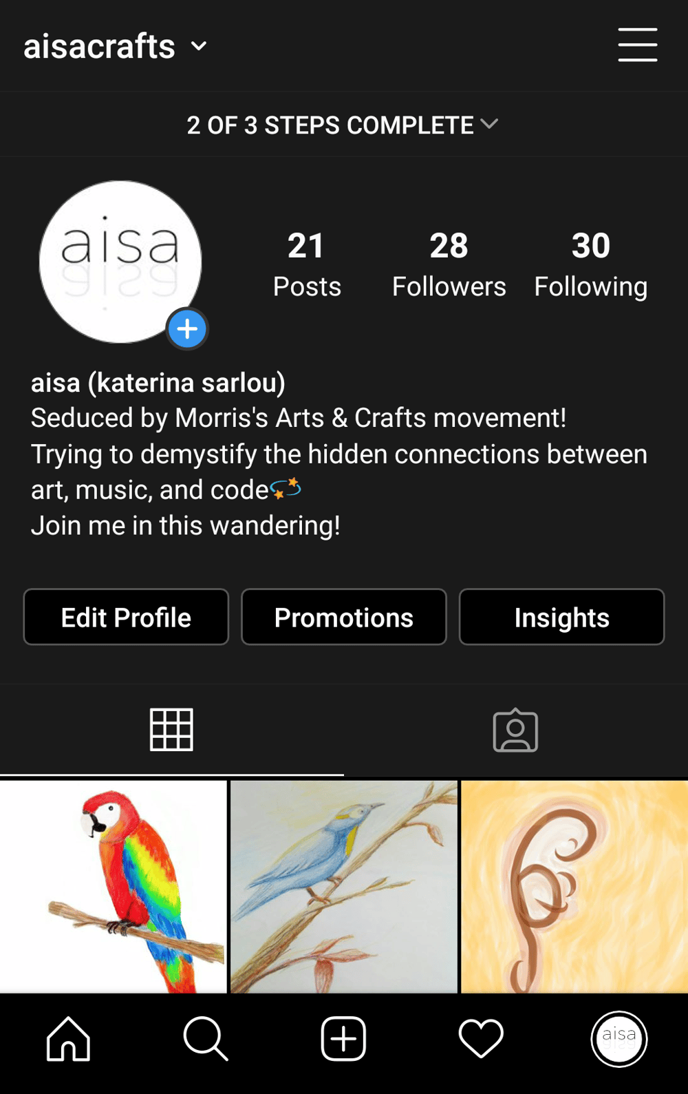 @aisacrafts (instagram profile) - image 1 - student project