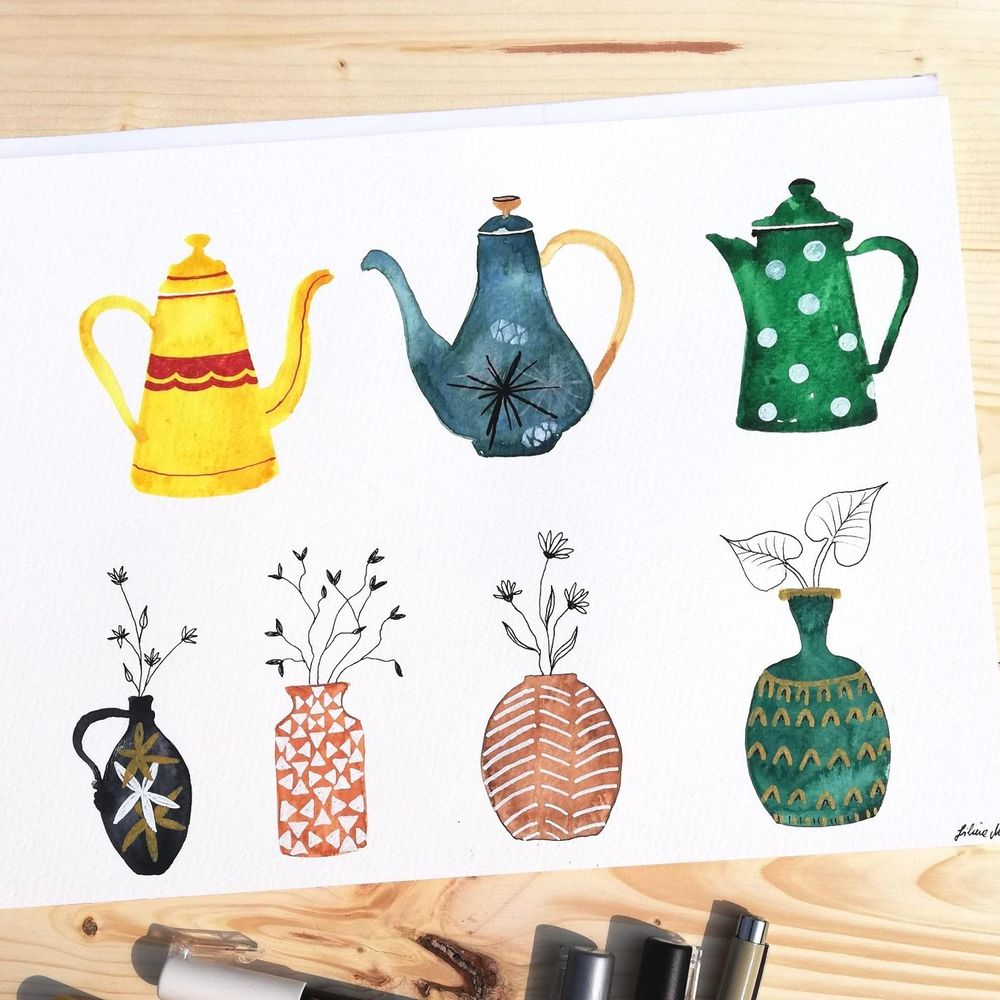 some fun coffeepots and vases - image 1 - student project