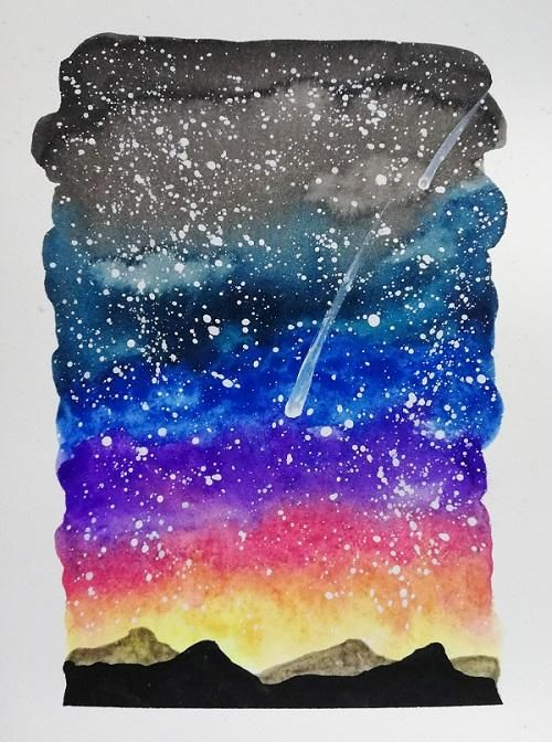 vibrant night sky - image 1 - student project