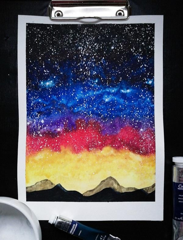 vibrant night sky - image 2 - student project