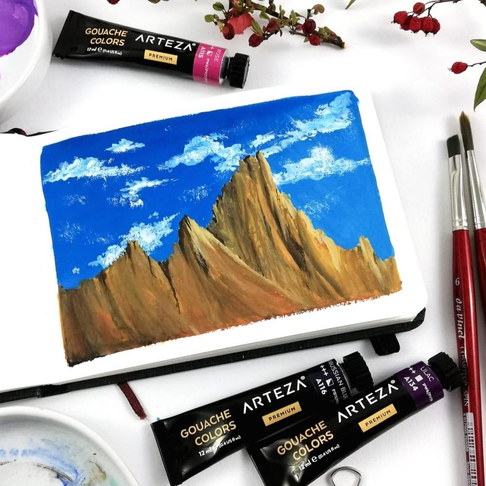 5 easy gouache landscapes! - image 4 - student project