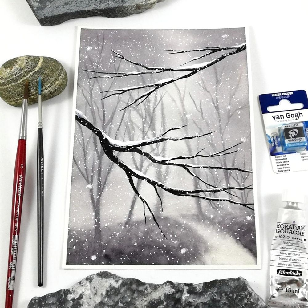 Watercolor holiday cards - image 1 - student project
