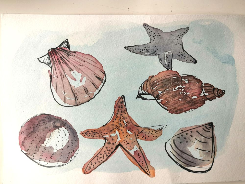 Ink and Watercolor Adventure - image 5 - student project