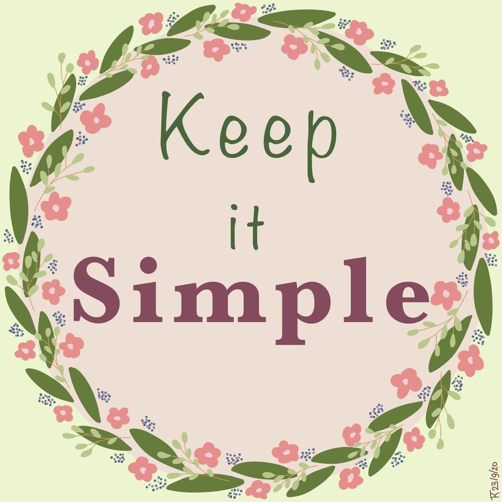 Keep it simple - image 1 - student project