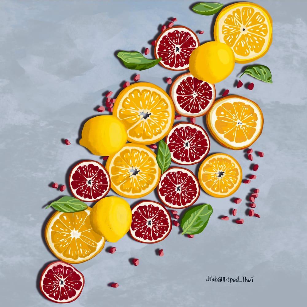 Gouache Citrus Ginger - image 2 - student project