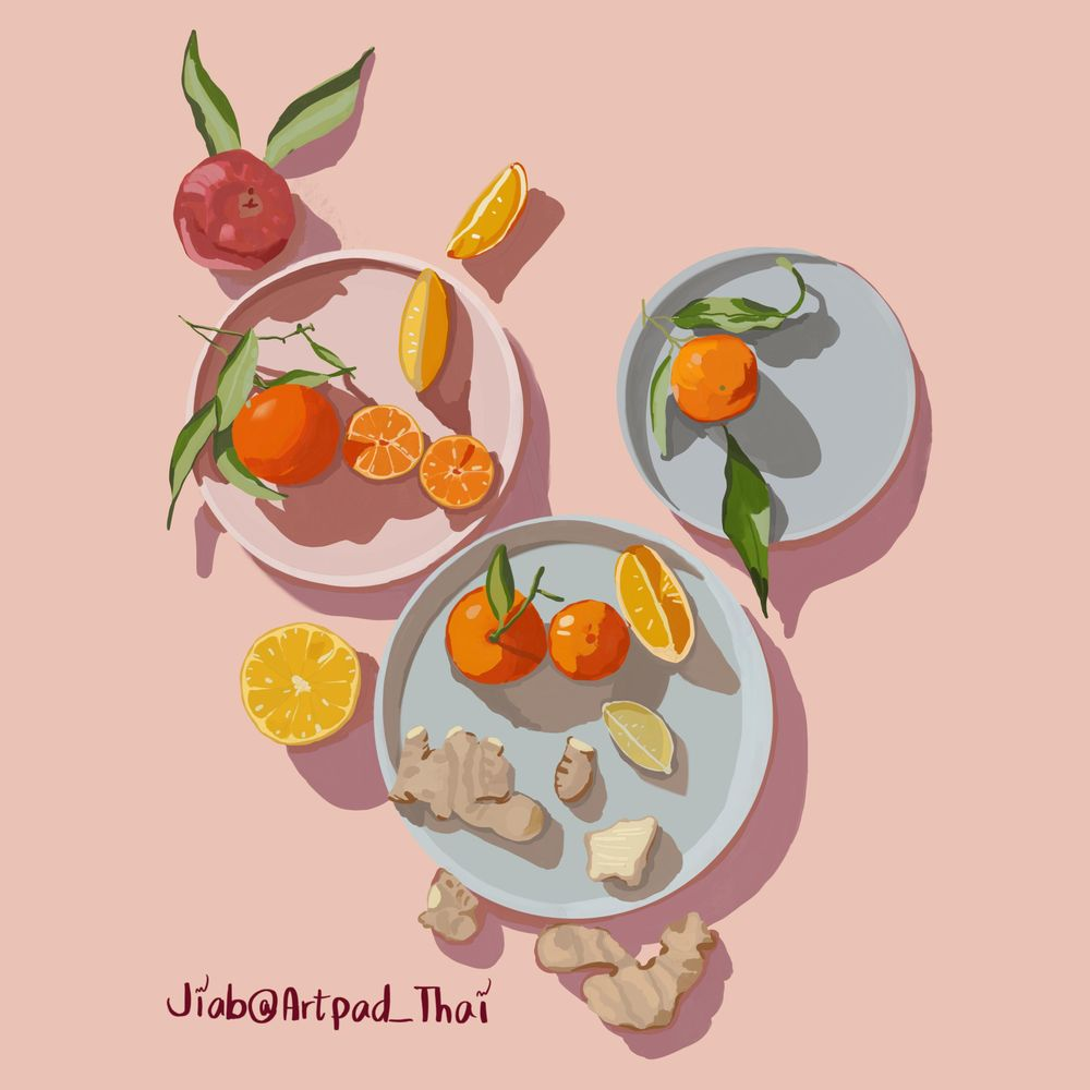Gouache Citrus Ginger - image 1 - student project