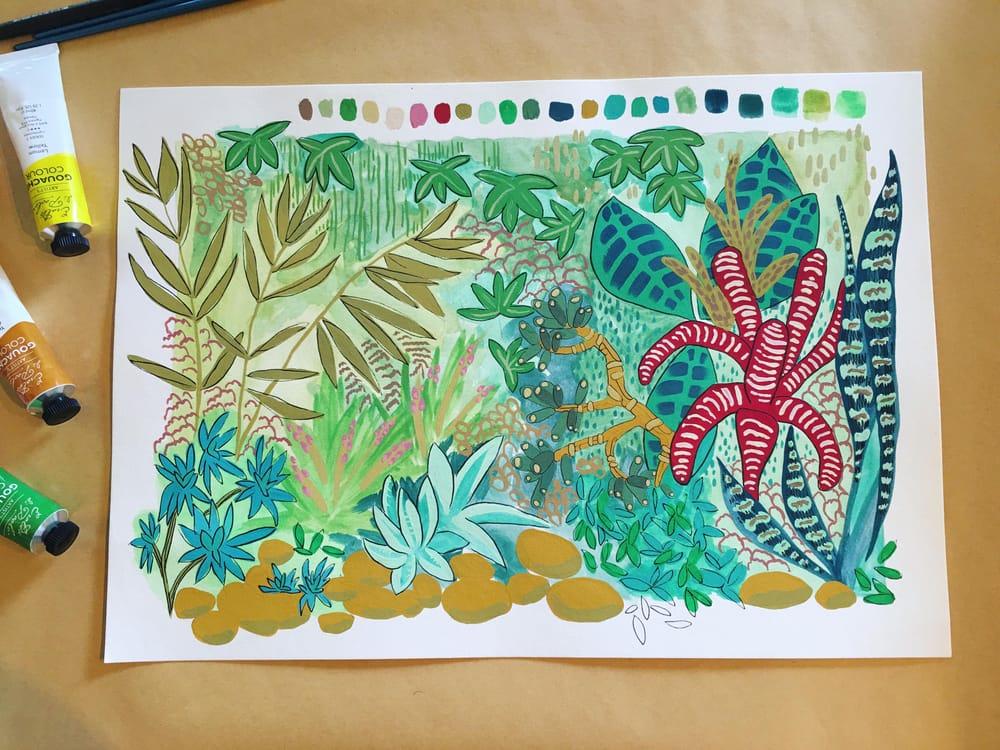 Garden Gouache - image 1 - student project