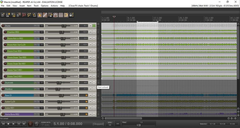 Free Multitrack With Busses and FXs - image 2 - student project